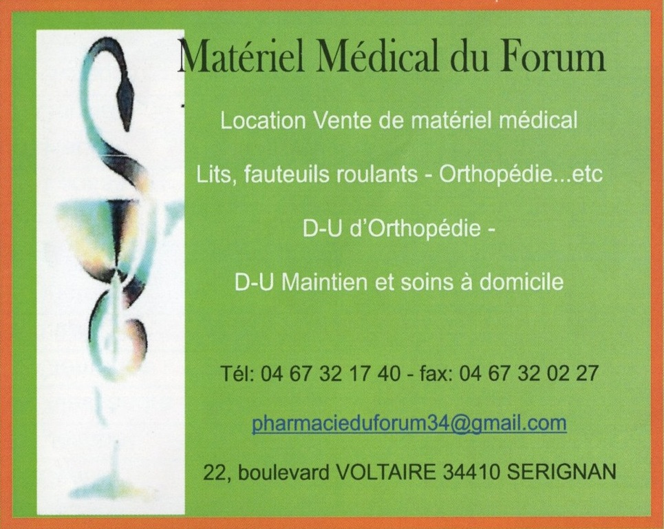 MATERIEL MEDICAL DU FORUM